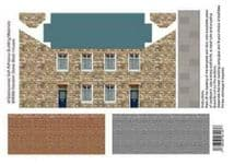 ID BACKSCENES BM306 00 GAUGE Random Stone Block Houses Self Adhesive